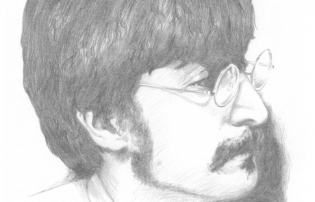 John Lennon pencil drawing by Carl Seager