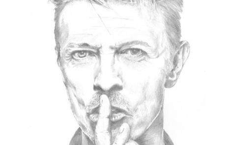 David Bowie pencil drawing by Carl Seager