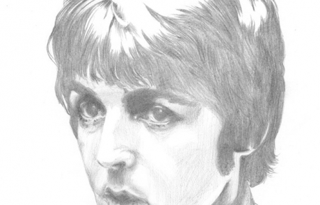 Paul McCartney 2 pencil drawing by Carl Seager