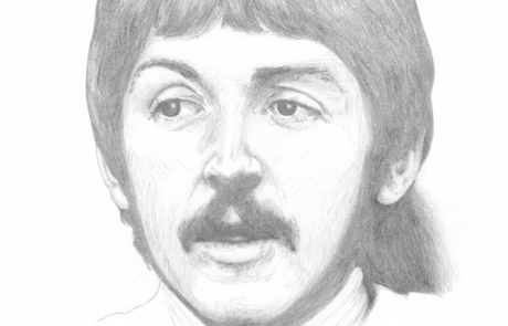 Paul McCartney, pencil drawing by Carl Seager