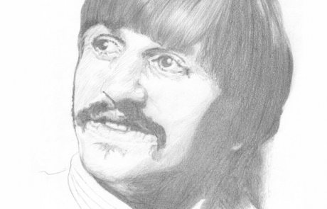 Ringo Starr pencil drawing by Carl Seager
