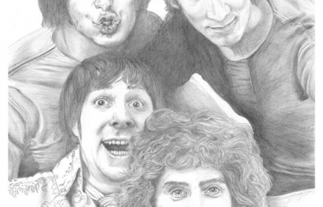 The Who, pencil drawing by Carl Seager