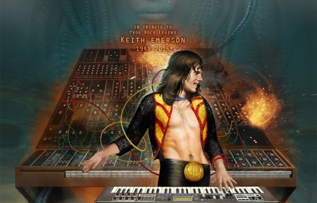 Keith Emerson of Emerson Lake and Palmer